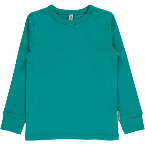 4ee1f1dc184a63 Maxomorra Top LS Turquoise