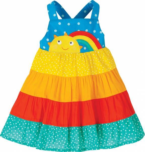 Frugi Mabli Sun Dress, Rainbow Hotchpotch